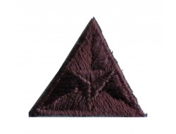 Ecusson thermocollant triangle marron