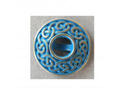 Bouton métal fantaisie bleu