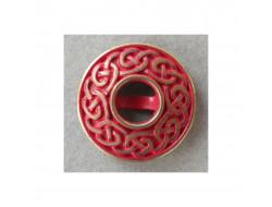Bouton métal fantaisie rouge
