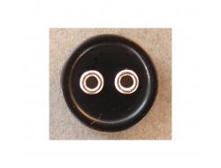 Bouton noir 10 mm