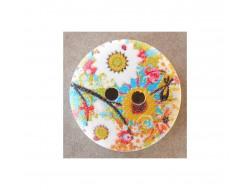 Bouton fleurs multi couleurs 18 mm