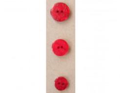 Bouton rouge petites fleurs