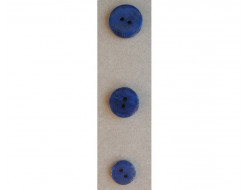 Bouton bleu petites fleurs