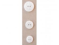 Bouton blanc et argenté 15, 18 et 23 mm