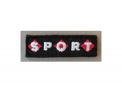 Ecusson thermocollant sport noir