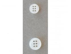 Bouton blanc 6 trous
