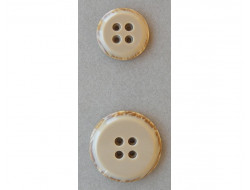 Bouton beige caramel 25 et 35 mm