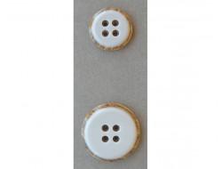 Bouton blanc 25 et 35 mm