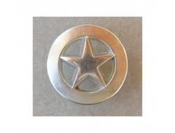 Bouton métal étoile