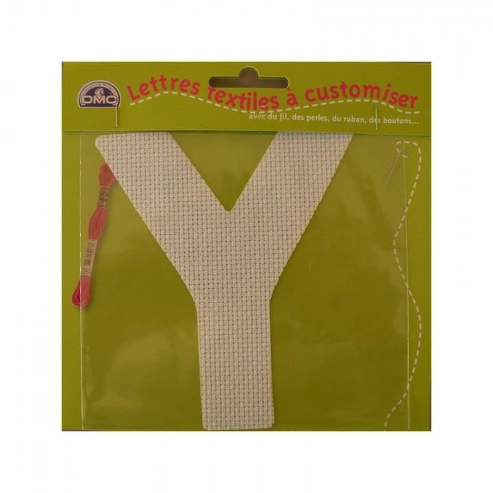 Lettre DMC textile à customiser Y