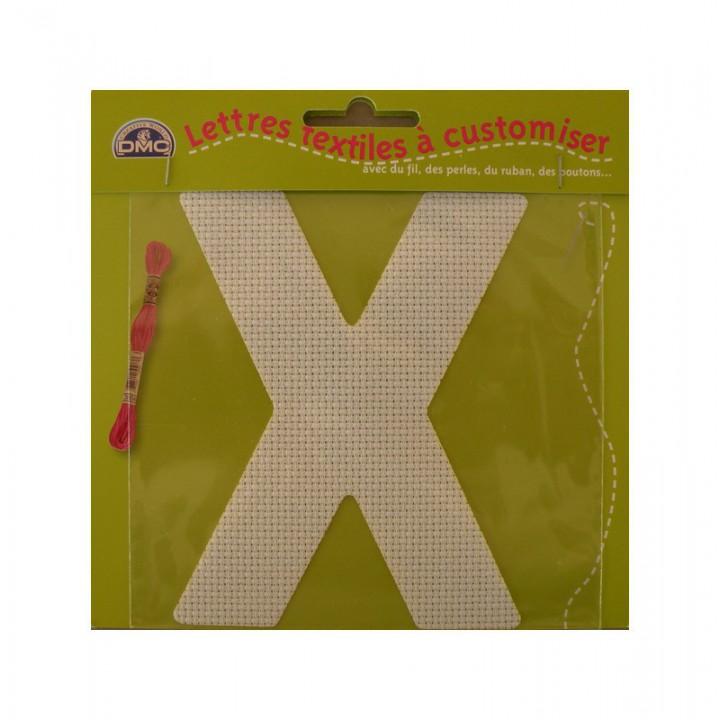 Lettre DMC textile à customiser X