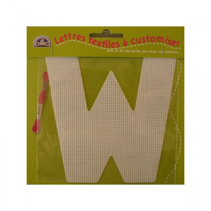 Lettre DMC textile à customiser W