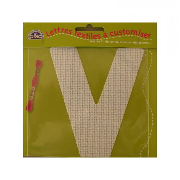 Lettre DMC textile à customiser V