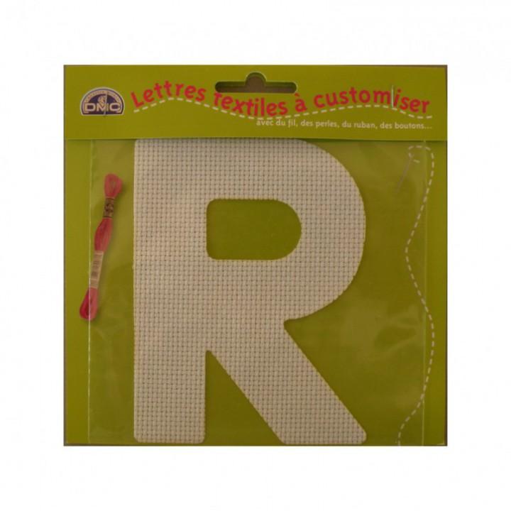 Lettre DMC textile à customiser R