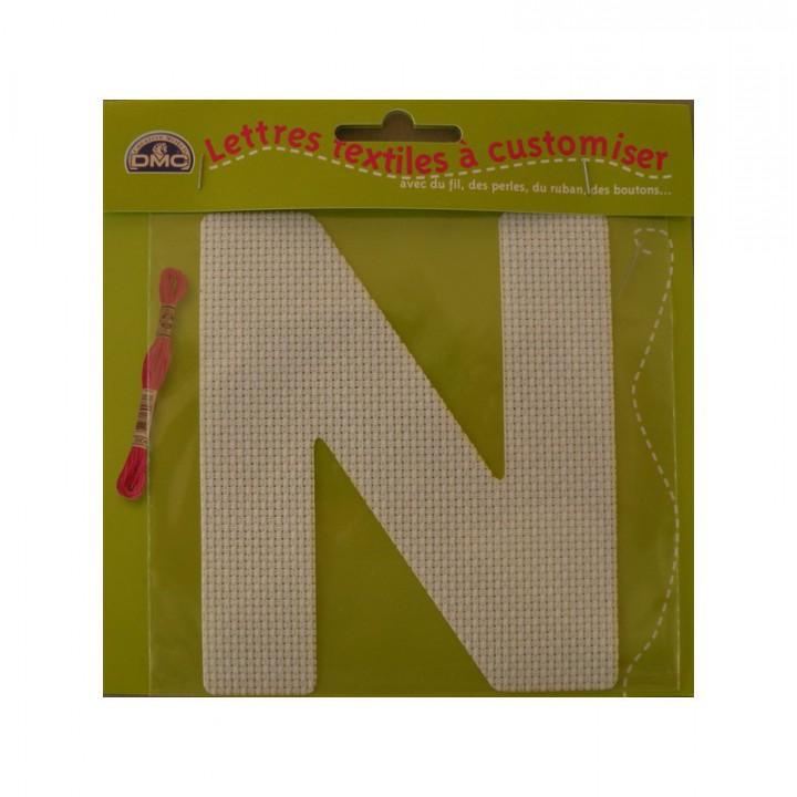 Lettre DMC textile à customiser N