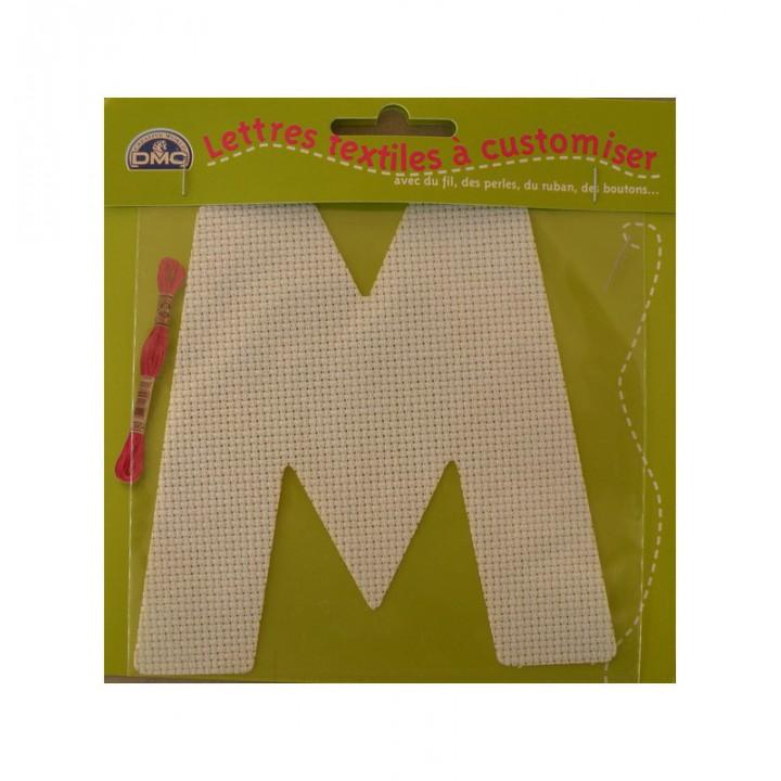 Lettre DMC textile à customiser M