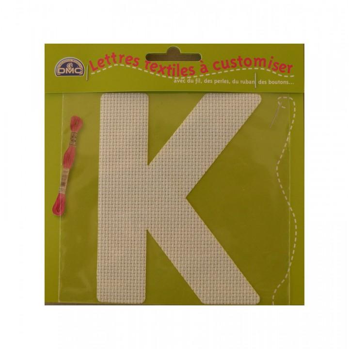 Lettre DMC textile à customiser K