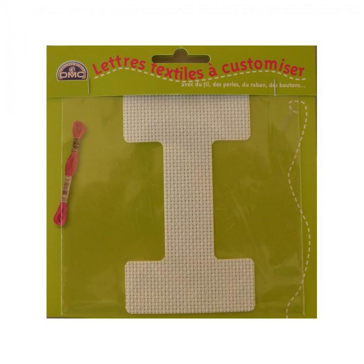 Lettre DMC textile à customiser I