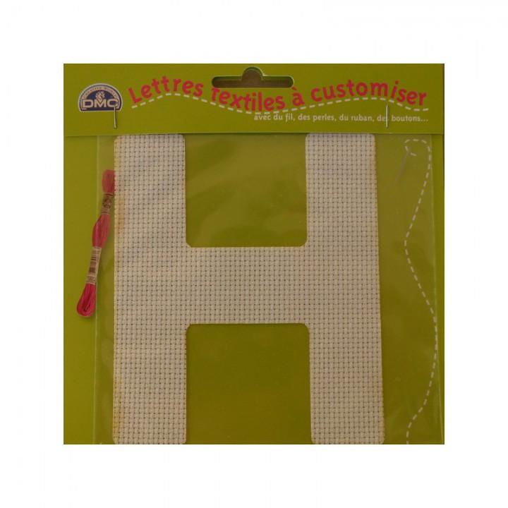 Lettre DMC textile à customiser H