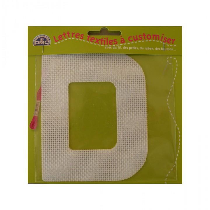 Lettre DMC textile à customiser D
