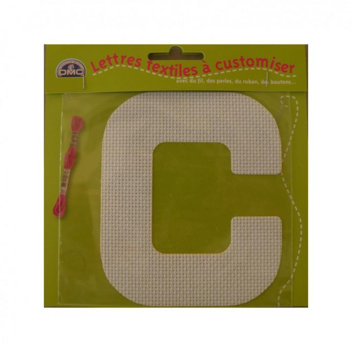 Lettre DMC textile à customiser C