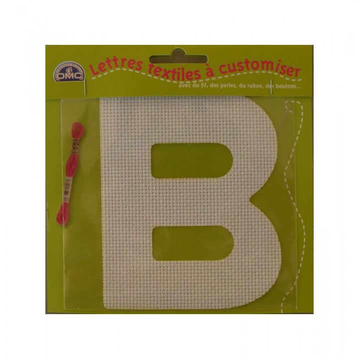 Lettre DMC textile à customiser B