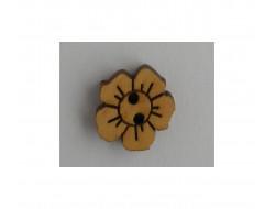 Bouton fleur en bois naturel