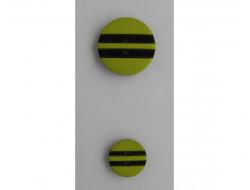 Bouton vert anis rayé noir