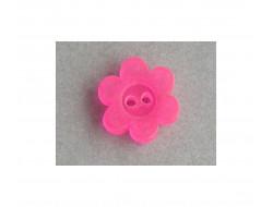 Bouton fleur fluo rose