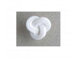 Bouton noeud blanc