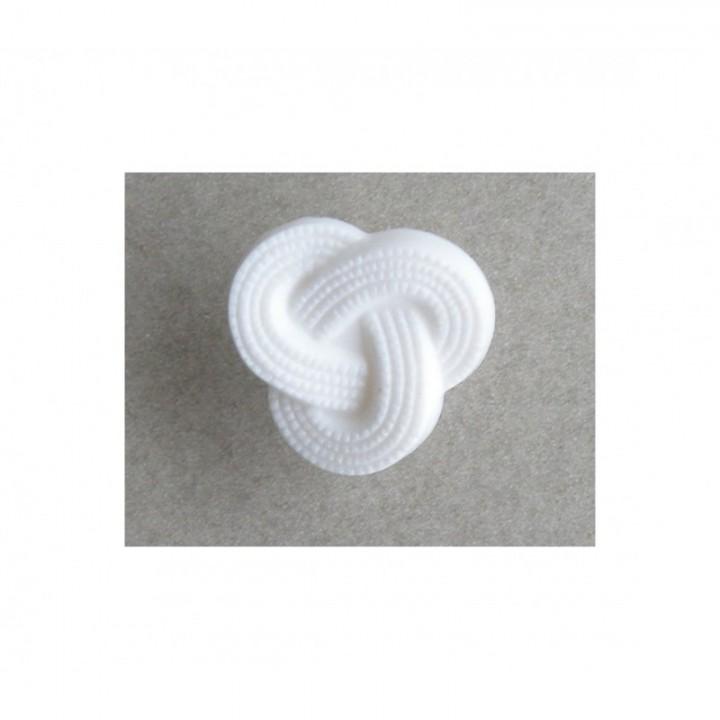 Bouton noeud blanc 15 mm