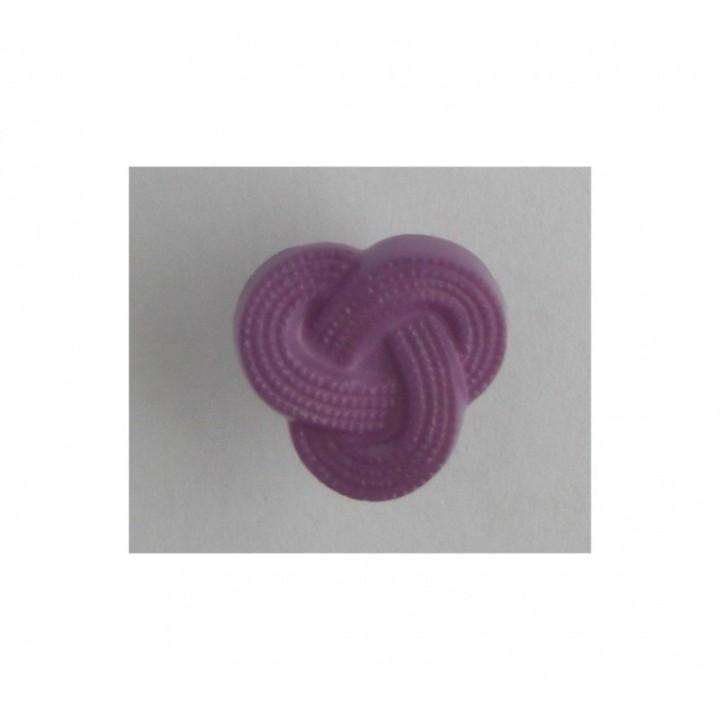 Bouton noeud violet 15 mm