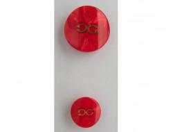 Bouton rouge haute couture 15 et 22 mm
