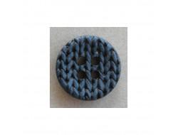 Bouton effet tricot, bleu