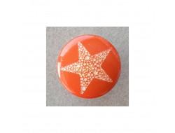 Bouton étoile, orange 15 mm