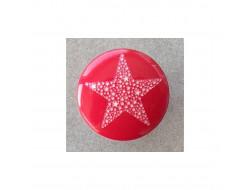 Bouton étoile rouge 15 mm