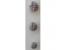 Bouton effet cuir, gris