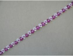 Galon fleur rococo violet parme