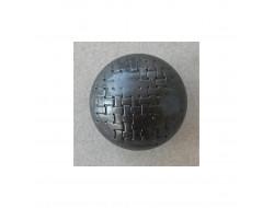 Bouton effet métal noir 23 mm
