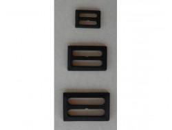 Boucle de ceinture noire 25 et 30 mm