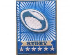 Ecusson thermocollant ballon de rugby