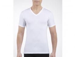 Tee-shirt Manches Courtes col V - Blanc