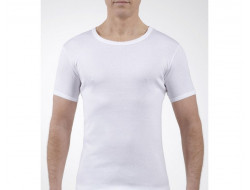 Tee-shirt Manches Courtes col Rond - Blanc JET