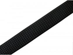 Ruban élastique noir gauffré avec lurex pour ceinture 60 mm