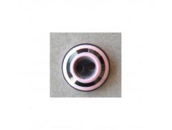 Bouton noir et rose 11 mm