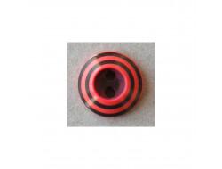 Bouton noir et rouge