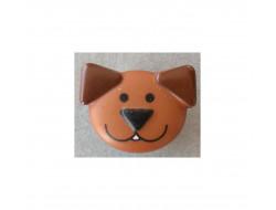 Bouton chien marron