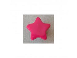 Bouton étoile rose fushia 15 mm