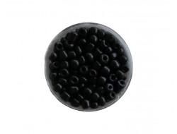 Perles de rocaille 4 mm - Noir
