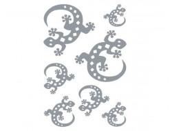 Sticker textile salamandre argenté